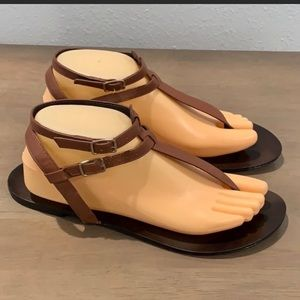 FINAL$ Auth J. Crew brown leather sandals sz 10